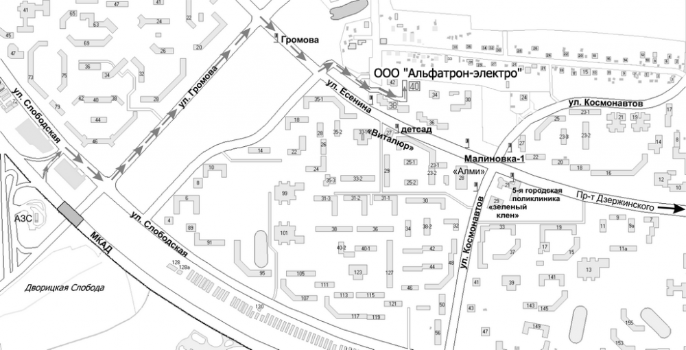 Схема проезда минск космонавтов